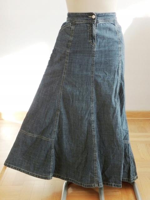 Spódnica Damska Dżinsowa Roz.40 w Pasie 88 cm