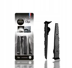 Zapach samochodowy na kratkę klips - CLIPS Black