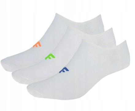 Skarpety męskie stopki 4F SOM005 3pak białe 43-46