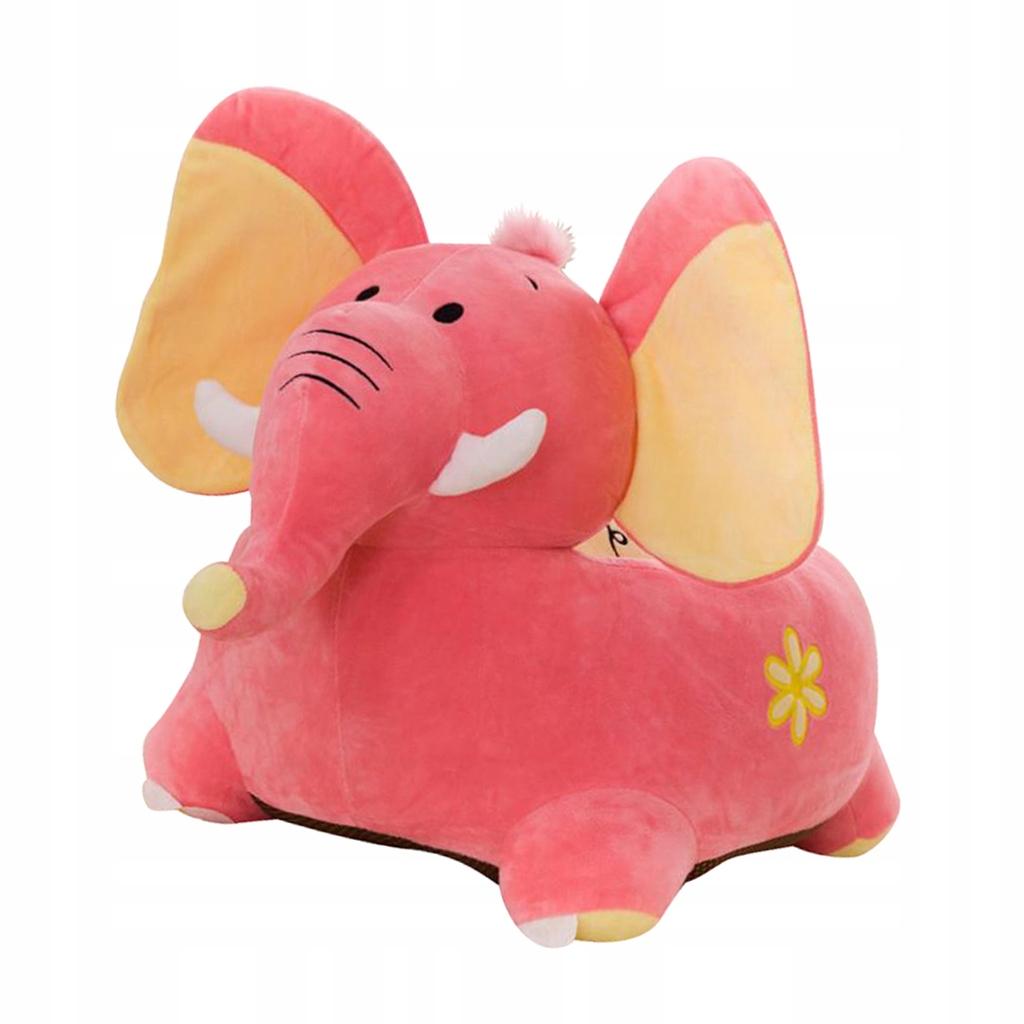Pokrowiec na sofę dla dzieci - Słoń (różowy)