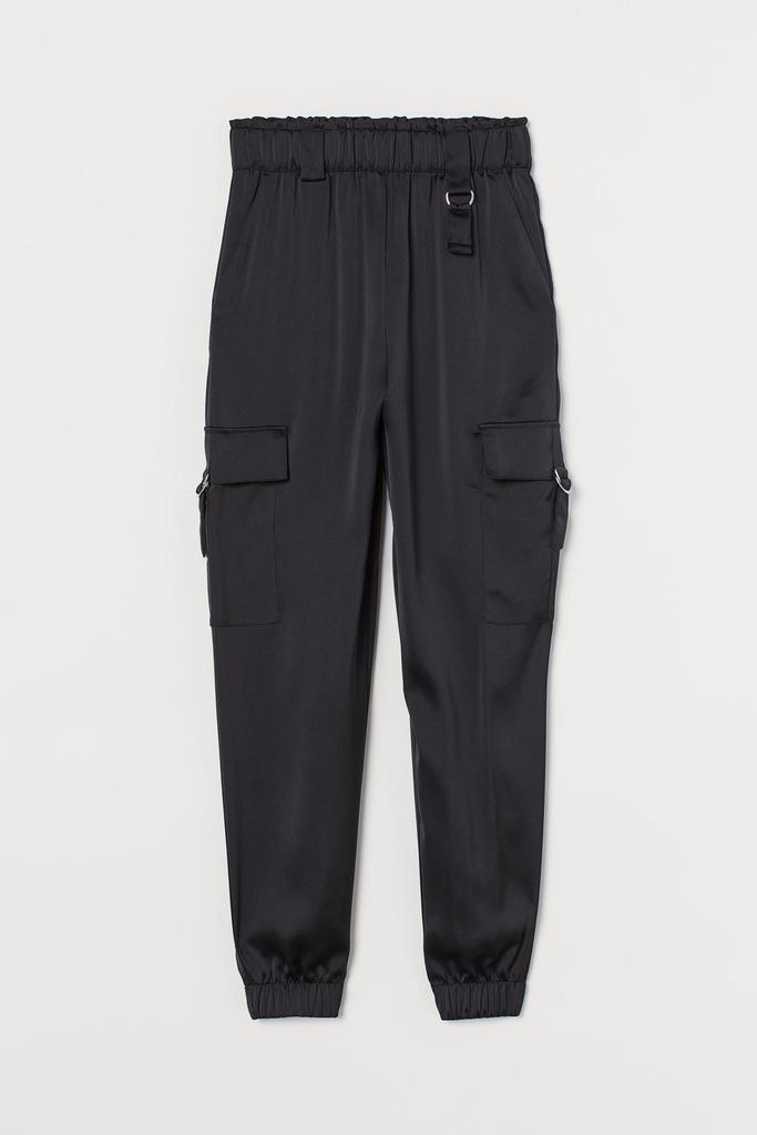 Spodnie Satynowe utility H&M r.44