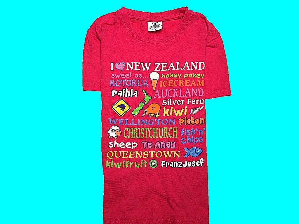 NEW ZELAND T-SHIRT MOTYWY PRINT NA 110/116 CM