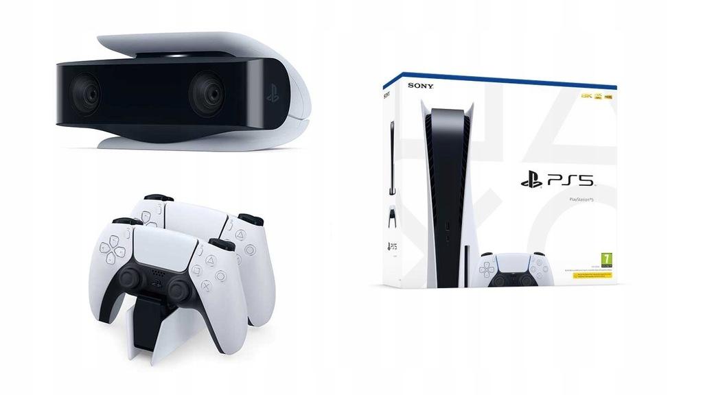 PS5 Playstation 5 Napęd 2x Pad + Kamera ZESTAW!