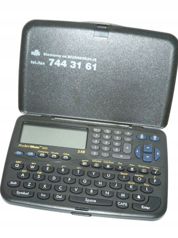 ORGANIZER TEXAS INSTRUMENTS POCKET MATE 100