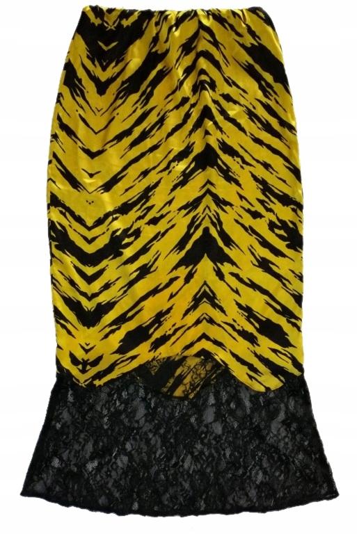 ASOS zebra satynowa lace maxi olowkowa pencil S