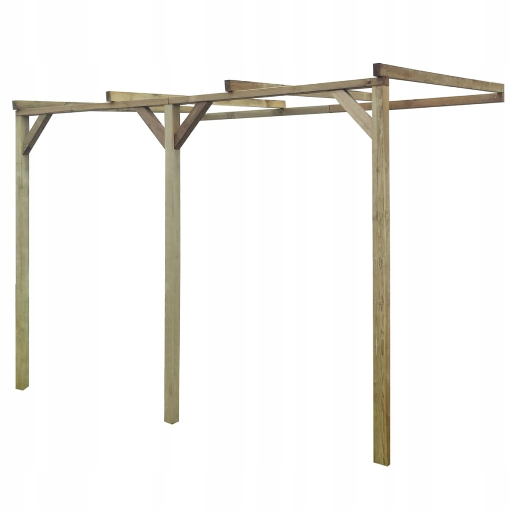 Pergola przyścienna, 2 x 3 x 2,2 m, drewno