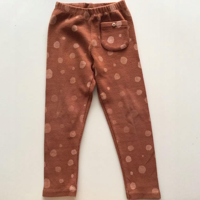Zara legginsy spodnie Bambi kropki 104