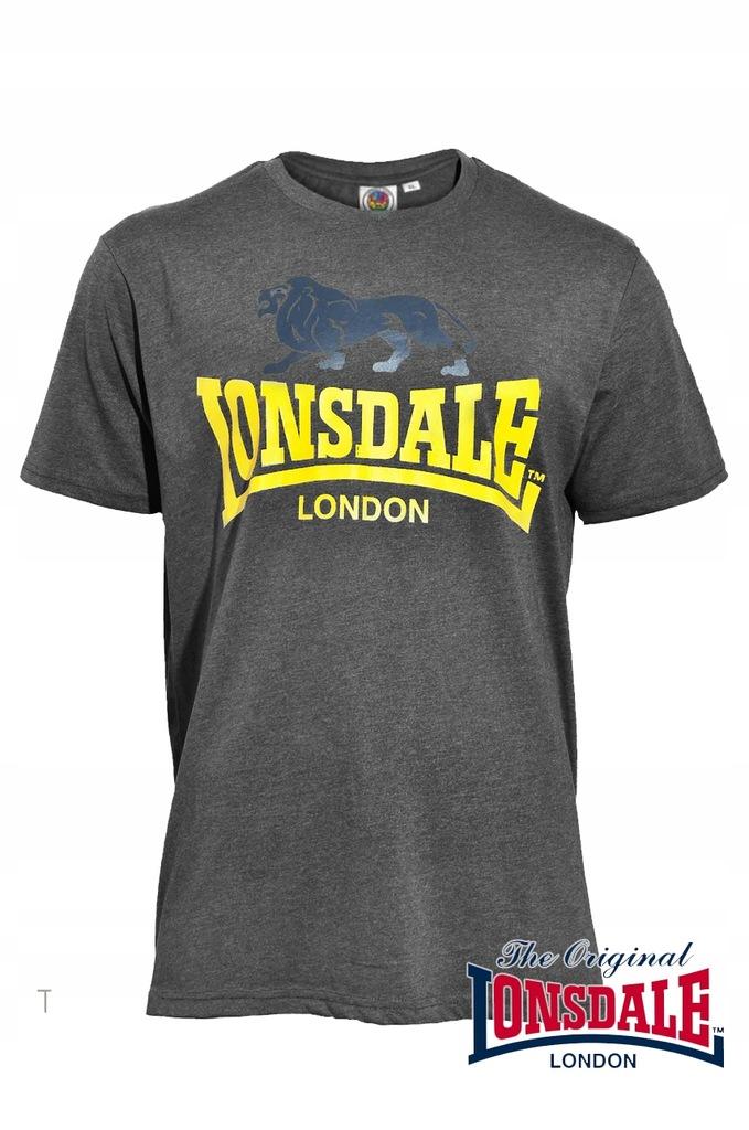 T-Shirt LONSDALE LONDON WISBECH Szary - PUNCH XL
