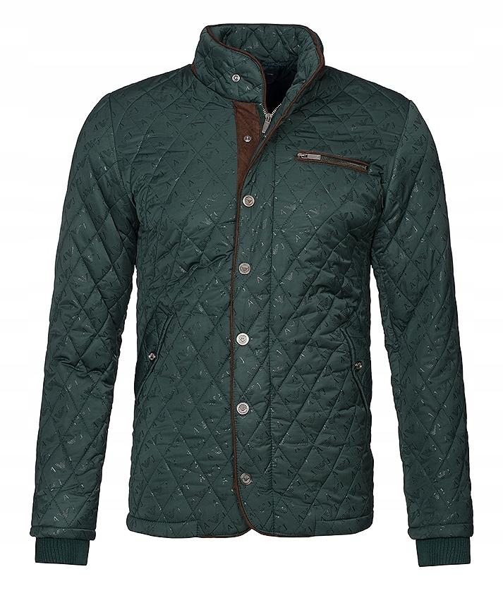 Armani Jeans płaszcz kurtka męska zielona /XXL