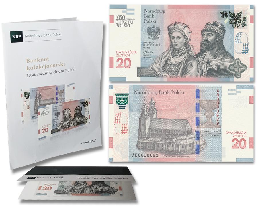 Banknot 20zl Chrzest Polski Mieszko Dabrowka 8896458332 Oficjalne Archiwum Allegro