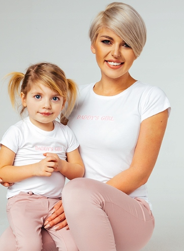 "T-shirt ""DADDY'S GIRL"" Mama i Córka 98"