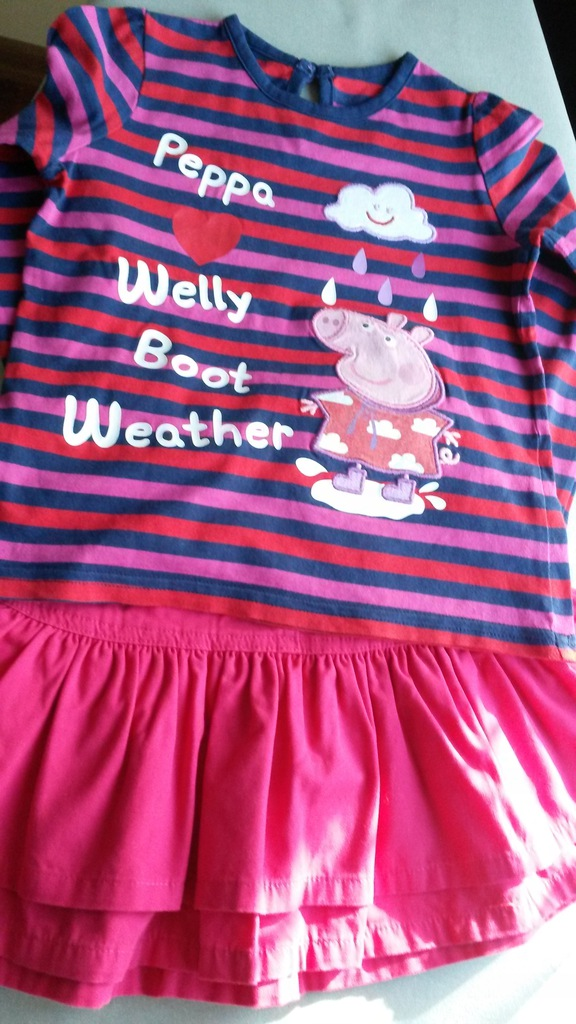 Zestaw 98 Pepa Pig, M&S bluzka, spódnica 2-3 l