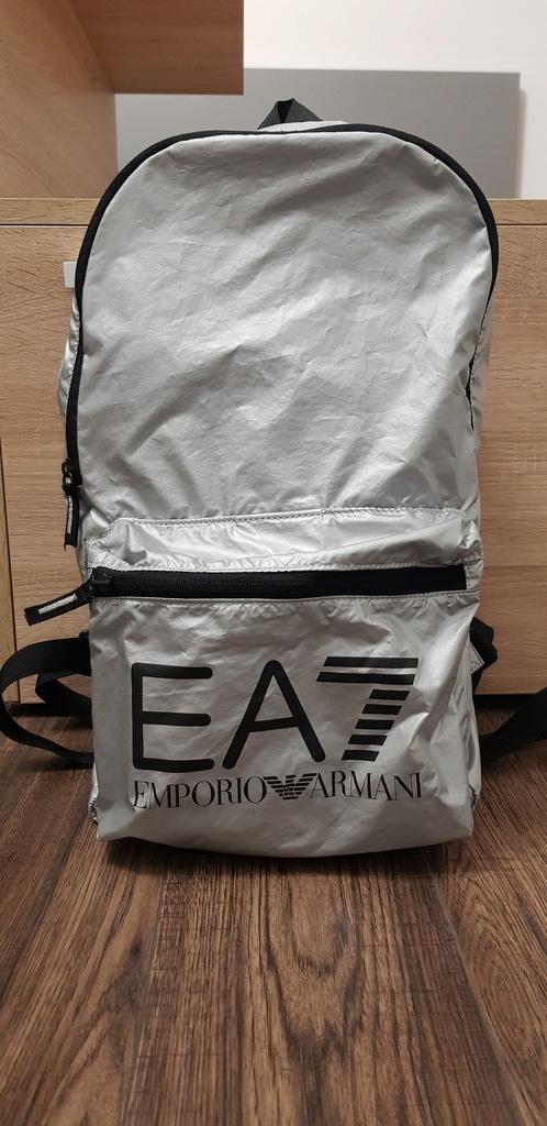 Plecak srebrny lekki Emporio Armani