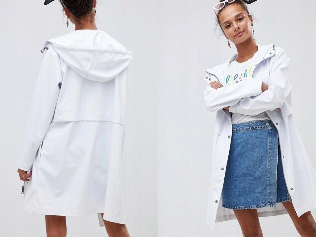 Design biały przeciwdeszczony płaszcz kurtka XXL