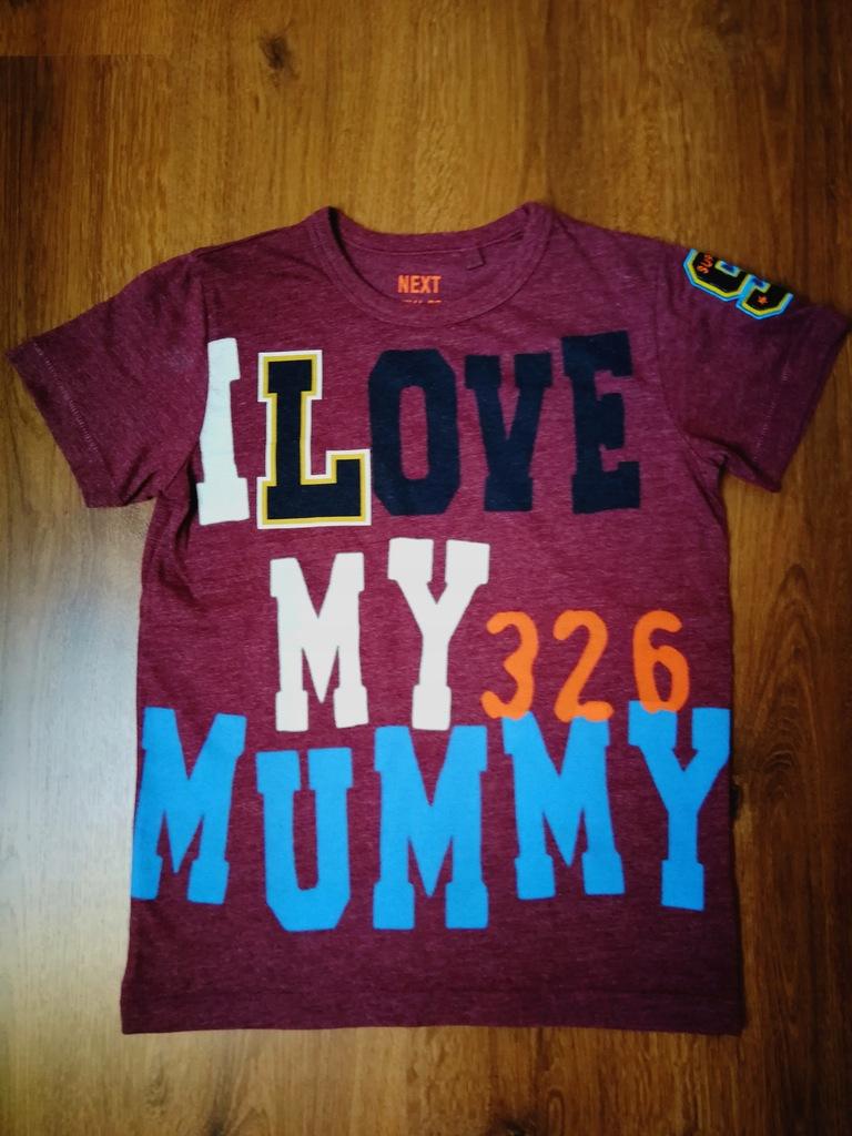 NEXT super t-shirt z dedykacją dla mamy 116