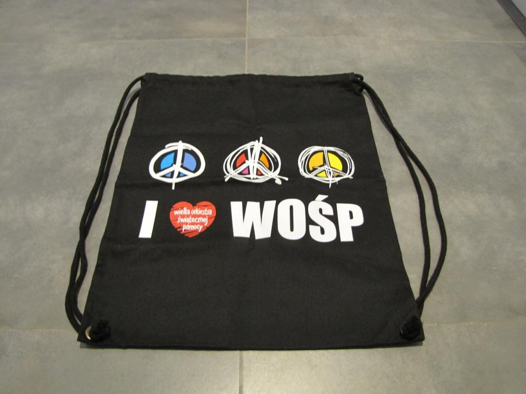 Torba materiałowa, plecak I love WOŚP
