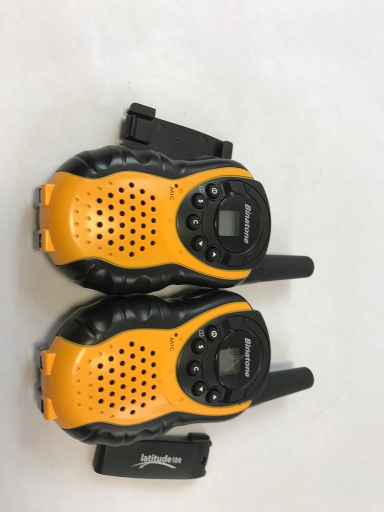 Binatone Latitude 100 Black Yellow Twin Pack Walki