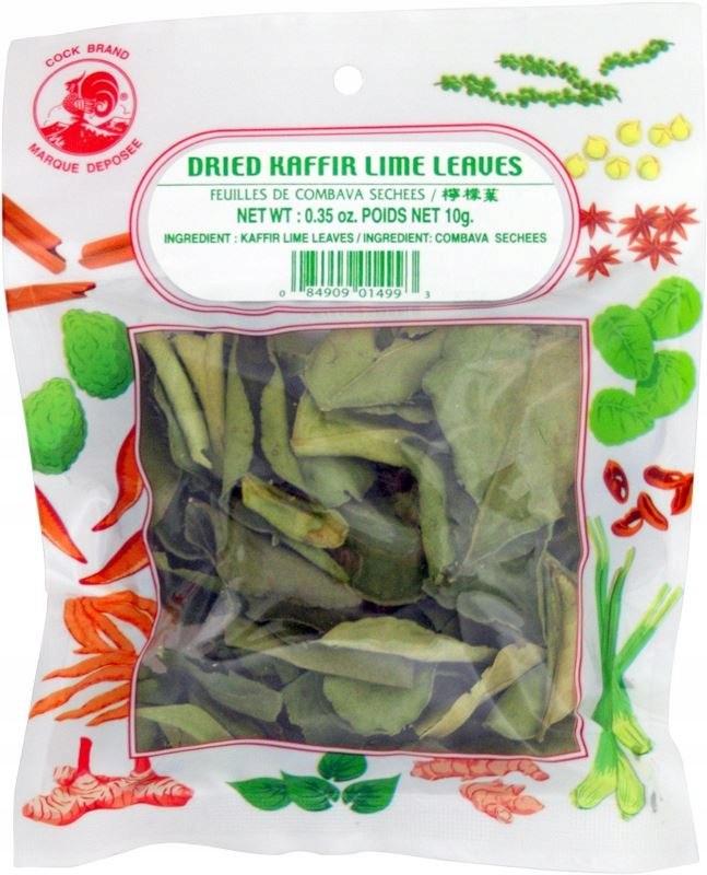 Liście limonki Kaffir suszone 10g MERRE