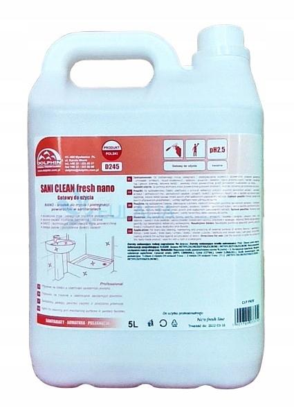 SANI CLEAN FRESH NANO PIANKA DO KABIN PRYSZNIC 5 L