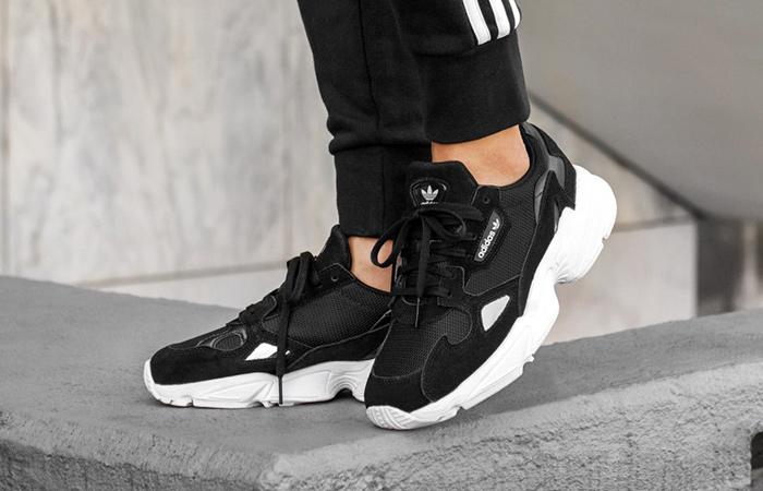 buty damskie adidas falcon w czarne b28129