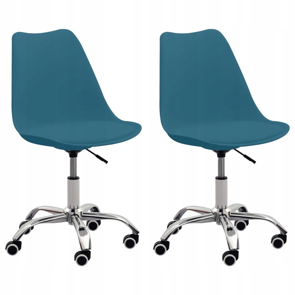 Krzesła biurowe, 2 szt., turkusowe, sztuczna skóra