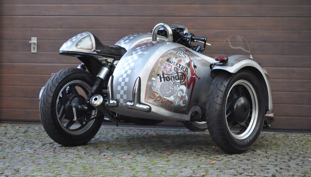 Sidecar Motocykl Z Wozkiem Bocznym Custom Honda 8470322697 Oficjalne Archiwum Allegro