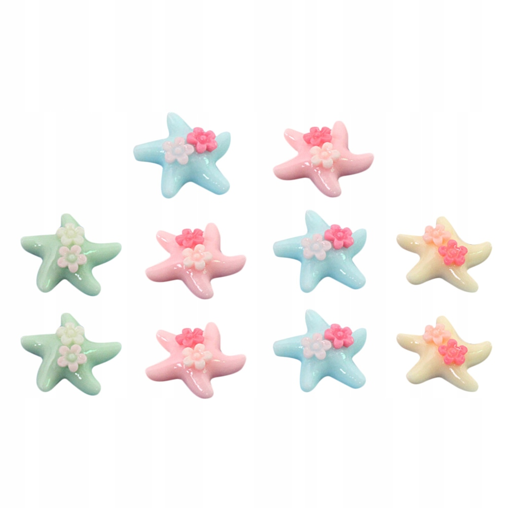10 sztuk Double Flower Sea Star Wzór Kolorowy rysu