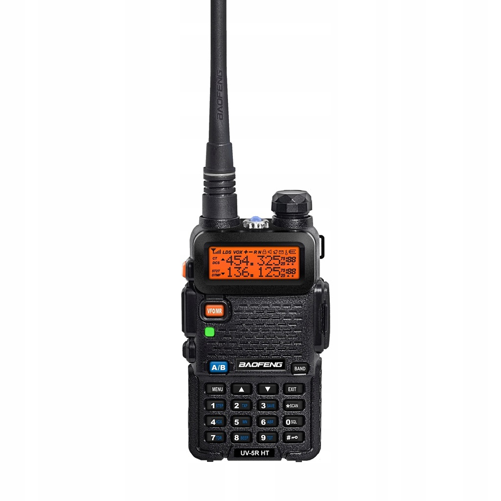 Baofeng UV-5R HT HP 8W antena 17cm słuchawki
