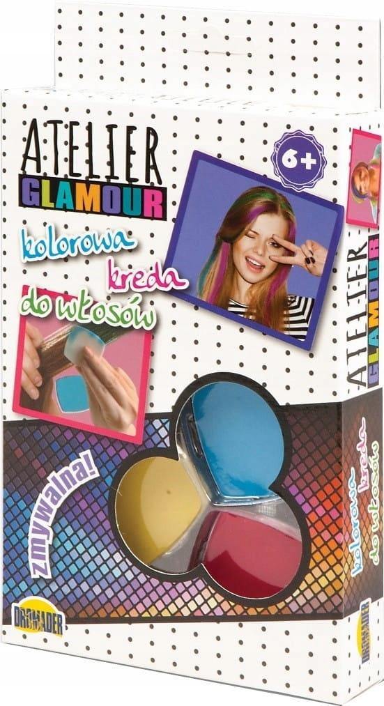 Dromader Atelier Glamour Kolorowa kreda do włosów