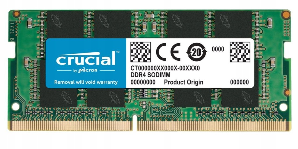 CRUCIAL Pamięć DDR4 SODIMM 4GB/3200 CL22 SR x8