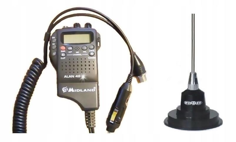 RADIO CB MIDLAND ALAN 42 DS + ANTENA HUSTLER IC100