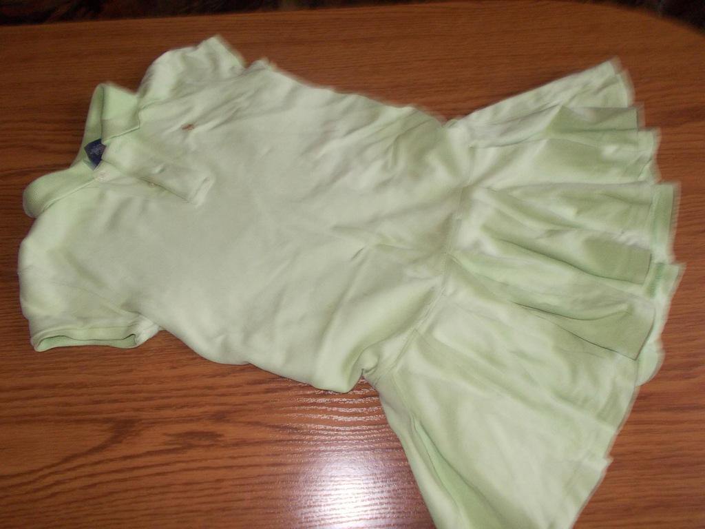 ralph lauren mietowa sukienka polo 6 122cm