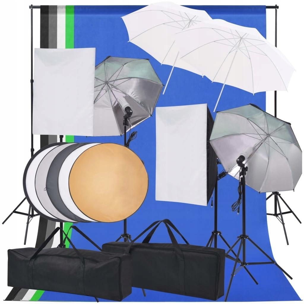 Zestaw lamp studyjnych i akcesoriów