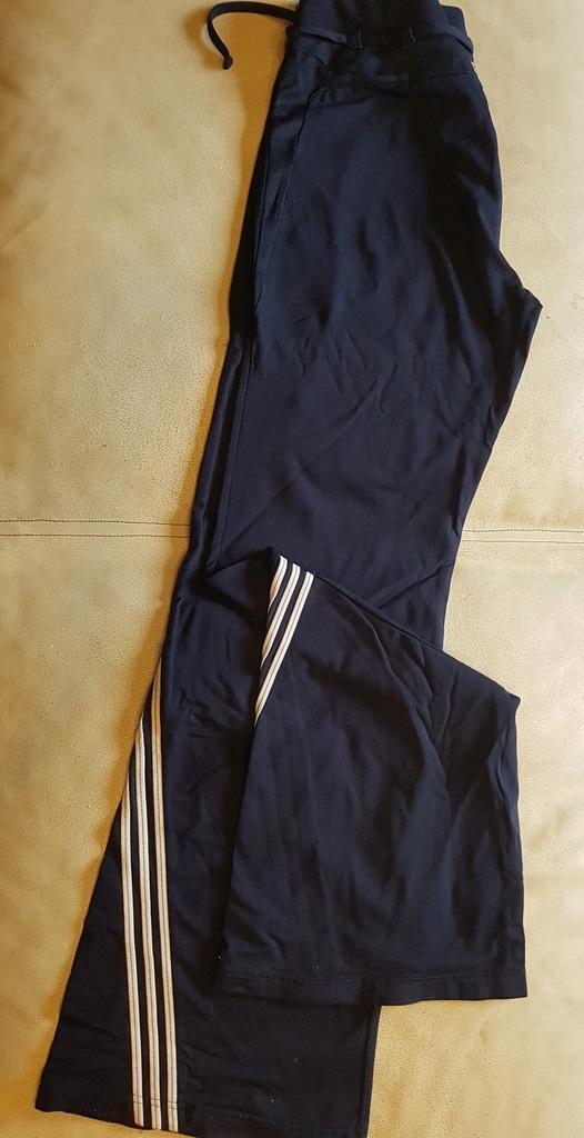 spodnie dresowe Adidas Climalite trzy paski r38 40