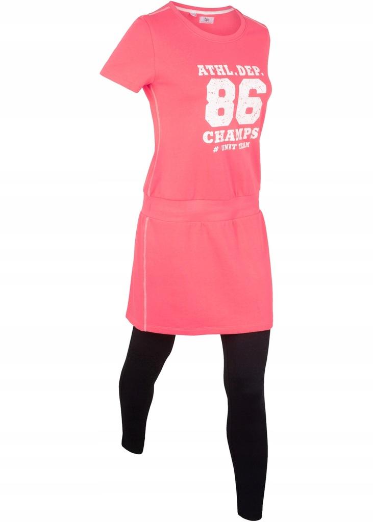 J49 BPC Shirt z legginsami, krótki rękaw r.44/46
