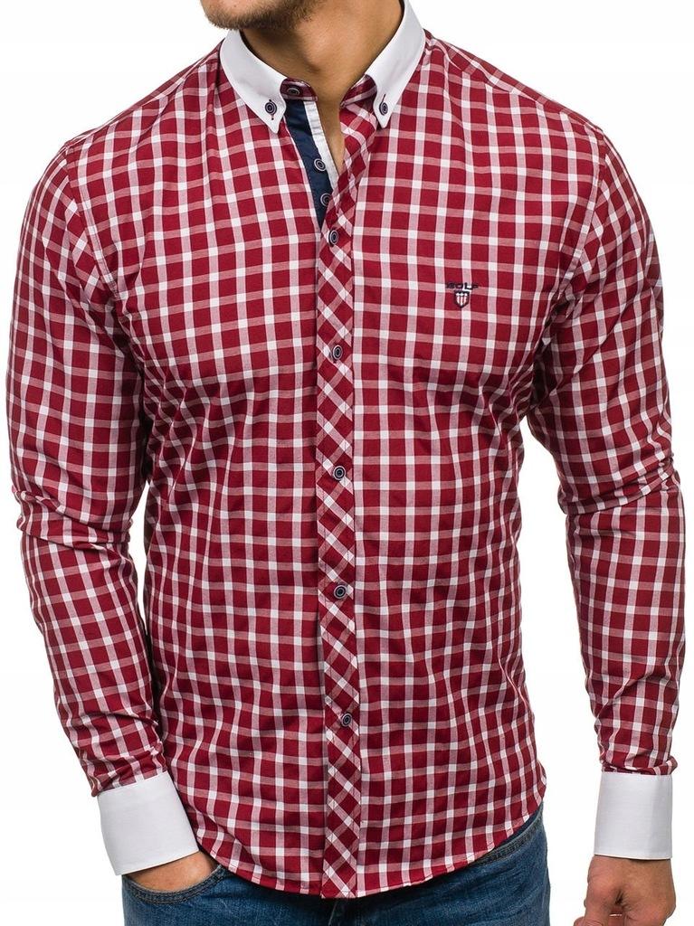 koszule flanelowe męskie z łatami na łokciach