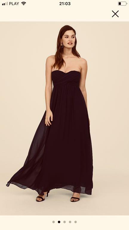 Elegancka długa czarna sukienka Stradivarius,nowa