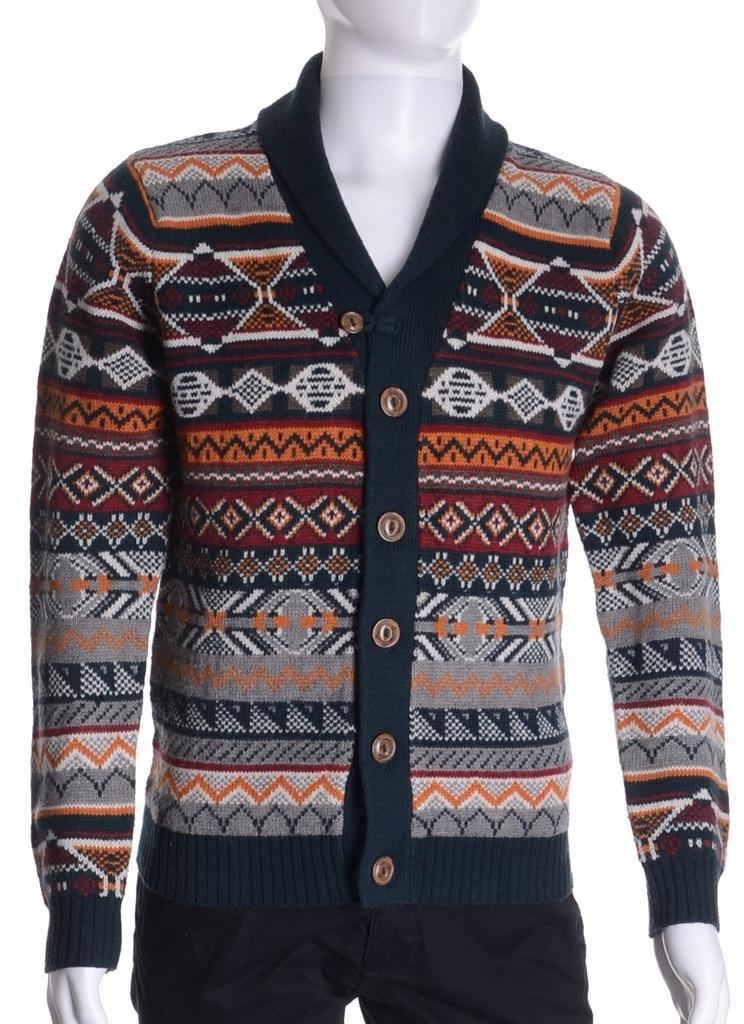 NEXT rozpinany sweter męski z kołnierzem blezer S