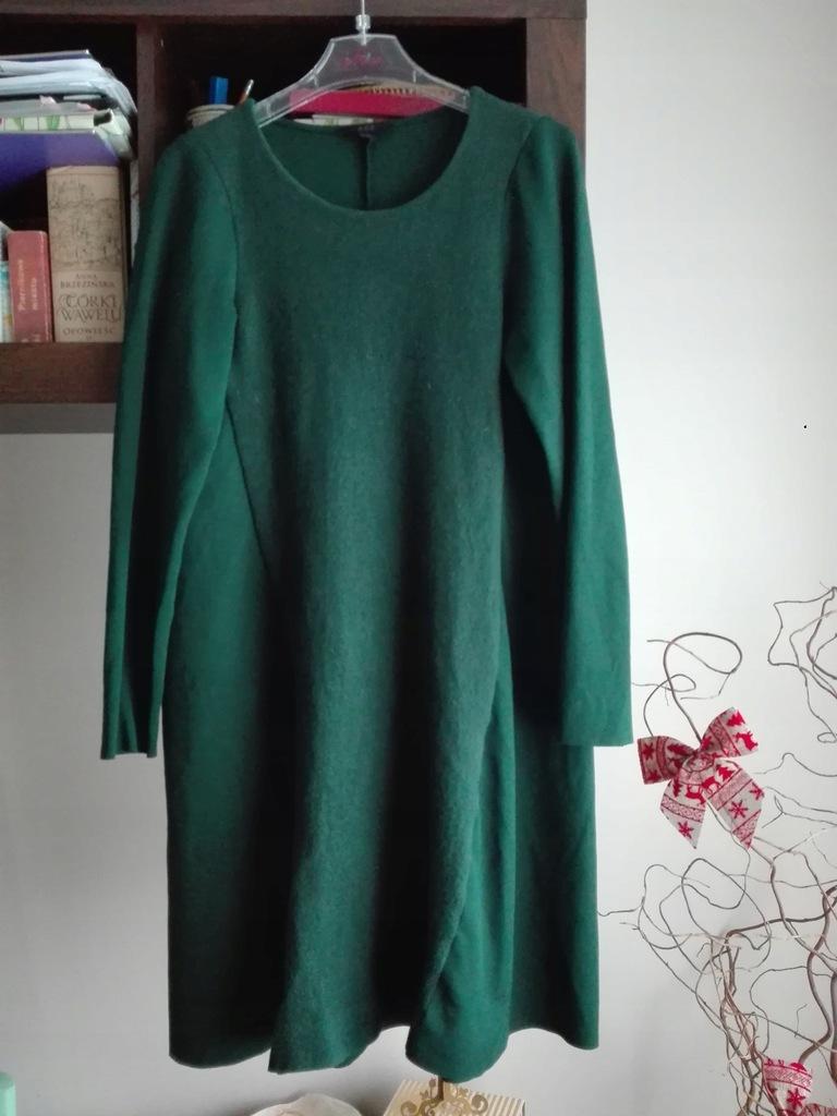 Tunika sukienka COS butelkowa zieleń s
