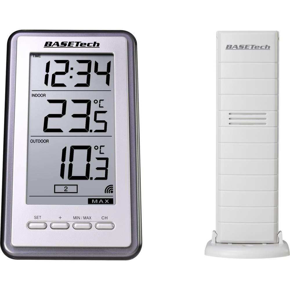 Termometr bezprzewodowy Basetech od -9.9 do 59,9 C