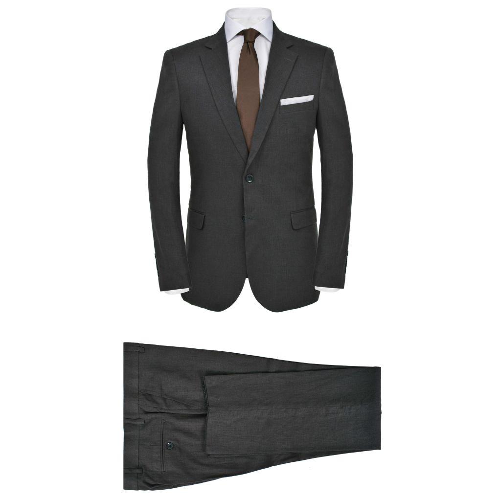Lniany garnitur męski, 2-częściowy, rozmiar 52, ci