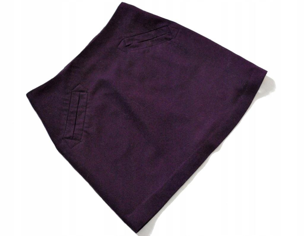H&M wełniana spódnica trapezowa wełna trapez S