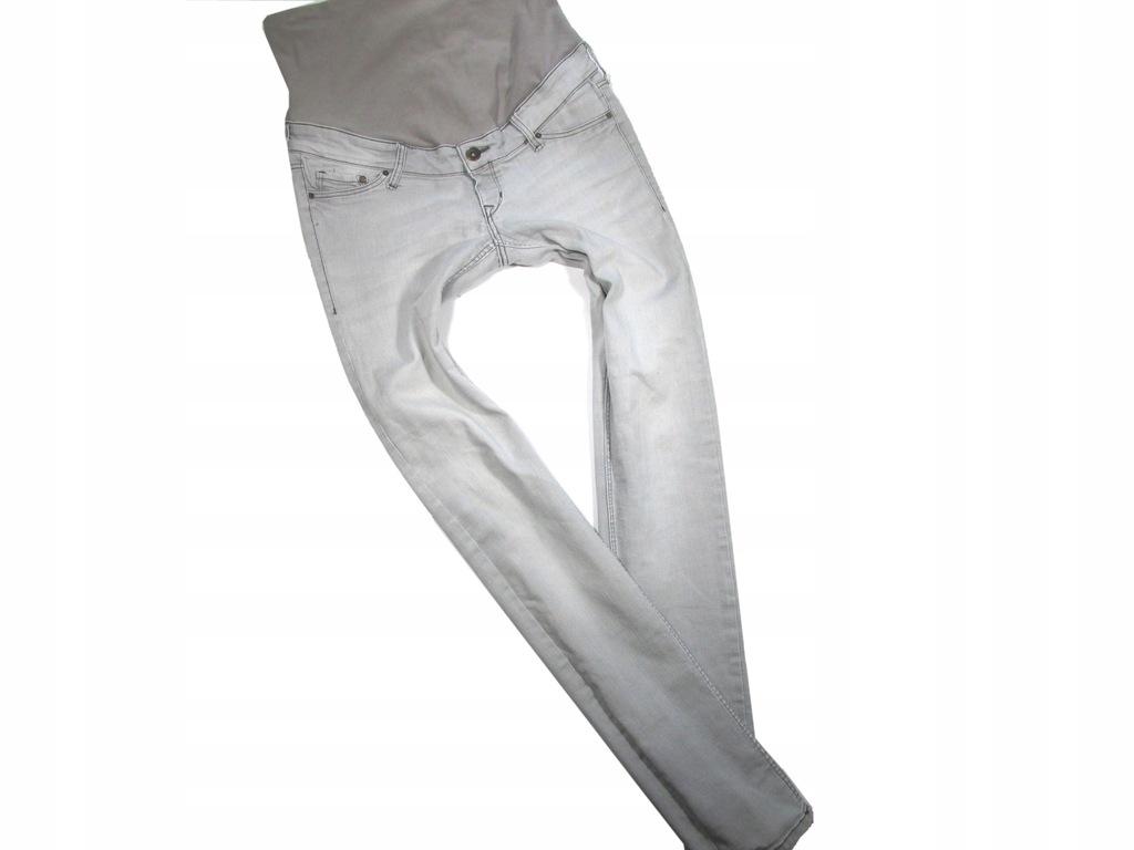 denim mama jeansy ciążowe skinny 38