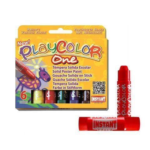 Farby w sztyfcie 6 kolorów Plakatowe Plakatówki