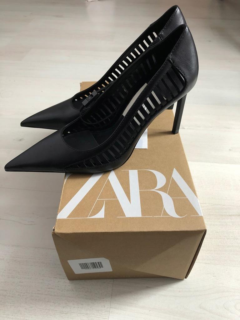 Zara, szpilki, czółenka, buty na obcasie 38