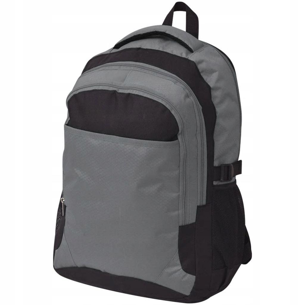 Plecak szkolny 40 L, czarny i szary