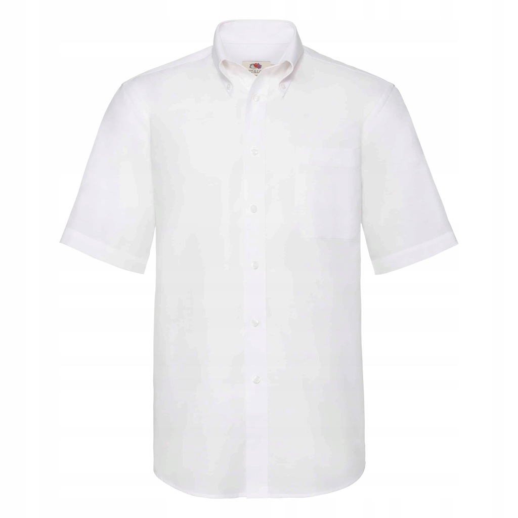 Koszula Oxford krótki rękaw Fruit Loom Biały XXL