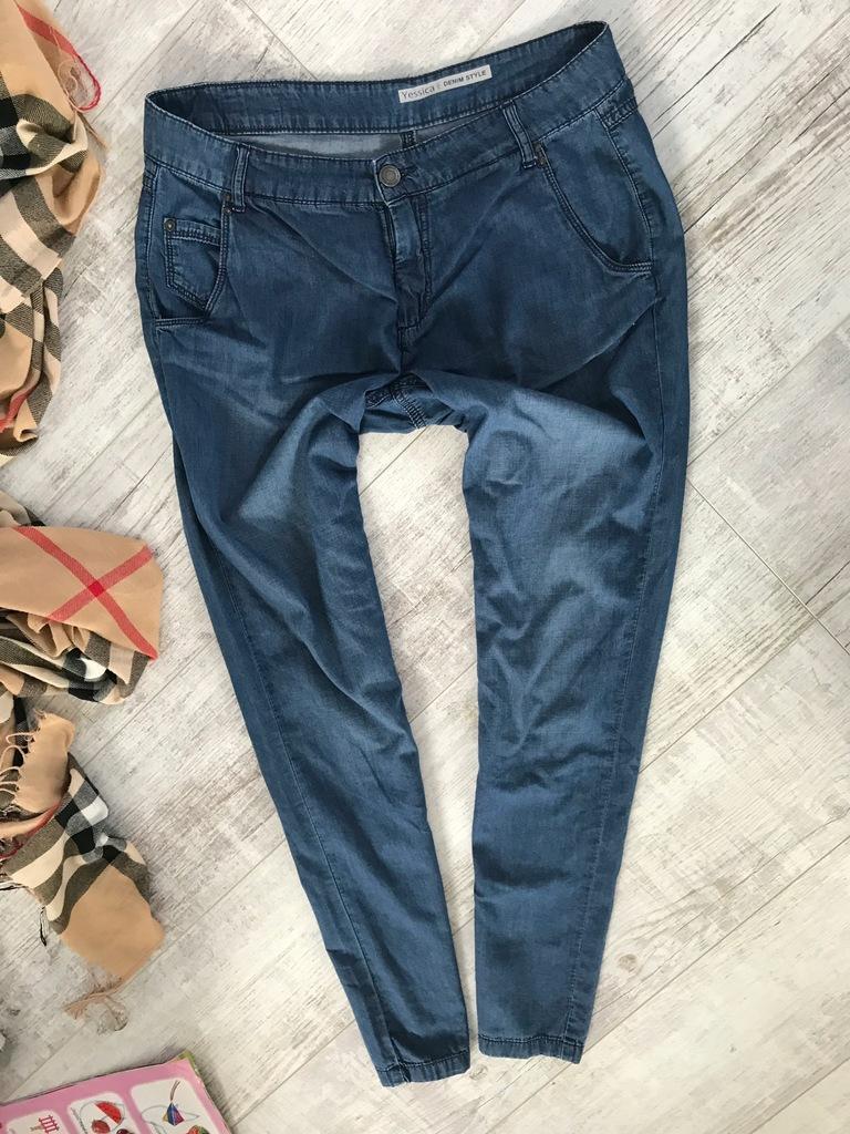 C&A__spodnie RURKI jeans LUŹNE__38