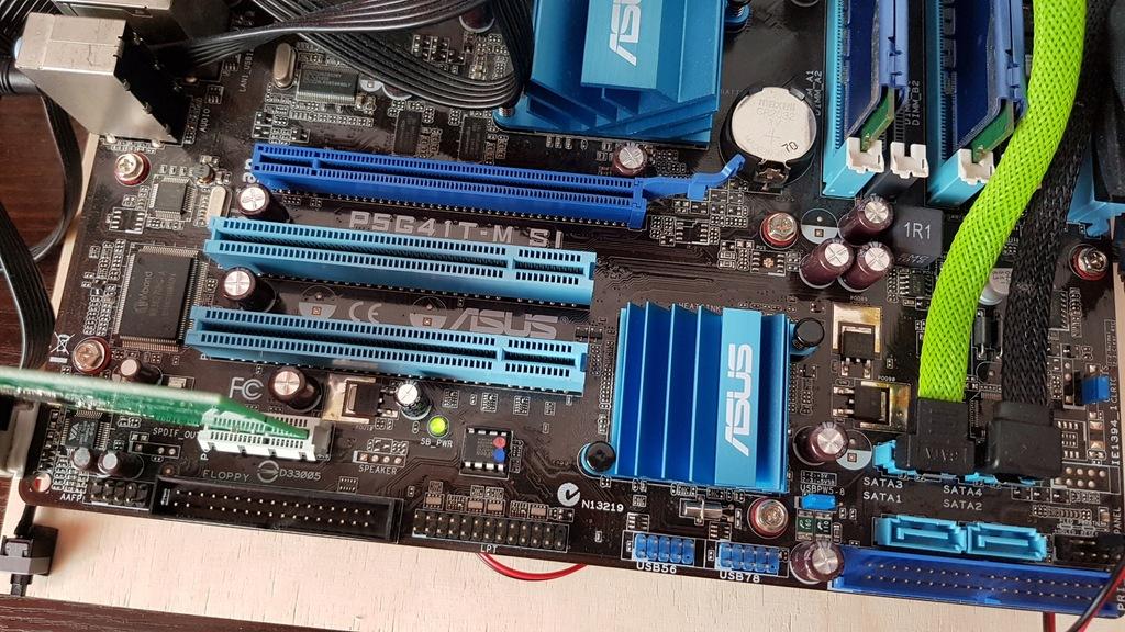Płyta główna P5G41T-M, procesor Q9400 8gb RAM DDR3