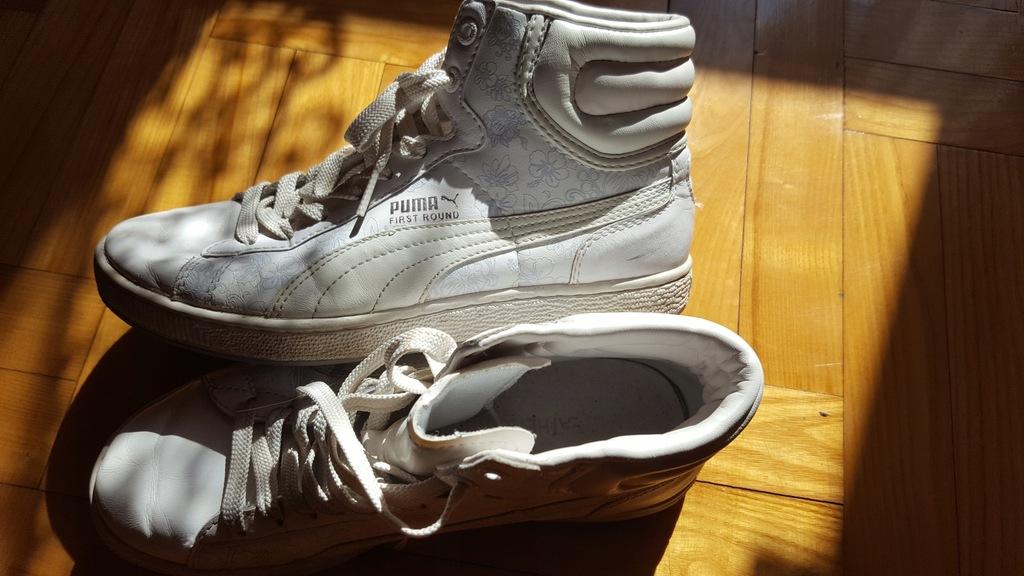 Buty adidas Puma high 37 białe Nike
